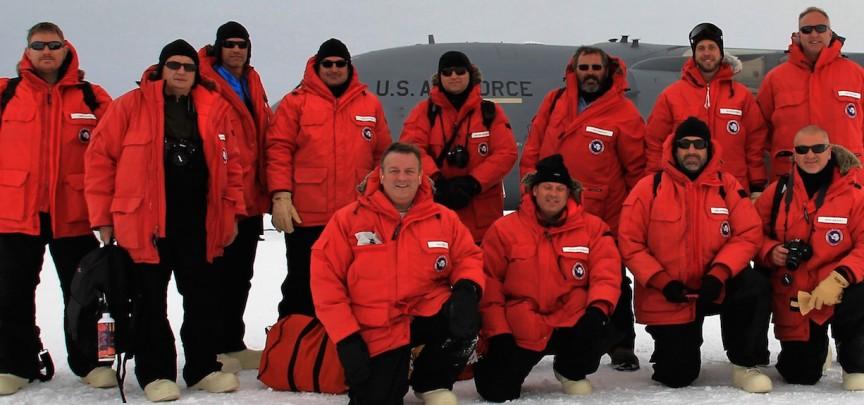 Photo of AWARE Team Arrival at McMurdo Station November 6, 2015
